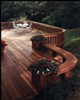 Bi-Level Redwood Deck