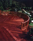 Ipe Deck - Redwood Rails
