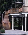 Raised Ipe Patio Deck