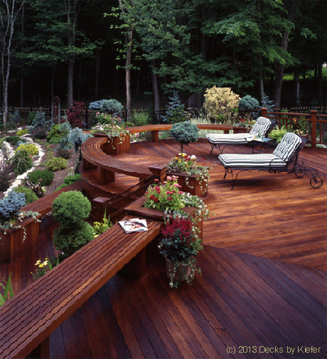 Ipe Deck - Curved Benches