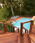 Multi-level Ipe Deck with Staircase