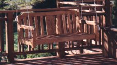IPE DECK WITH BENCH SWING