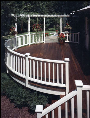 Ipe Deck with painted rails and pergola