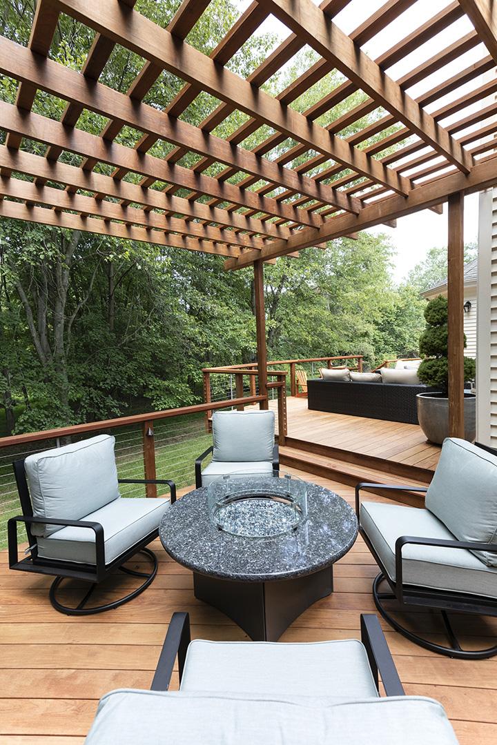 Large raised deck